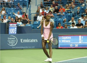Venus Williams 8-12-2013 Credit David McCaskill
