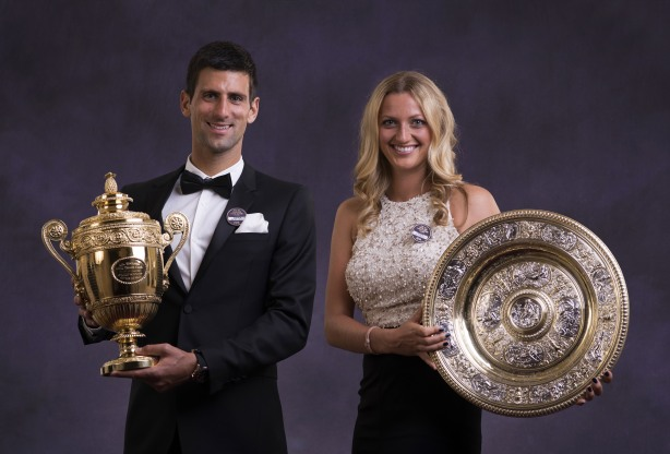 Novak Djokovic and Petra Kvitova. (Getty Images)