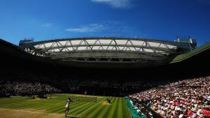 The Wimbledon Championships at the All-England Lawn Tennis and Croquet Club in London, England.